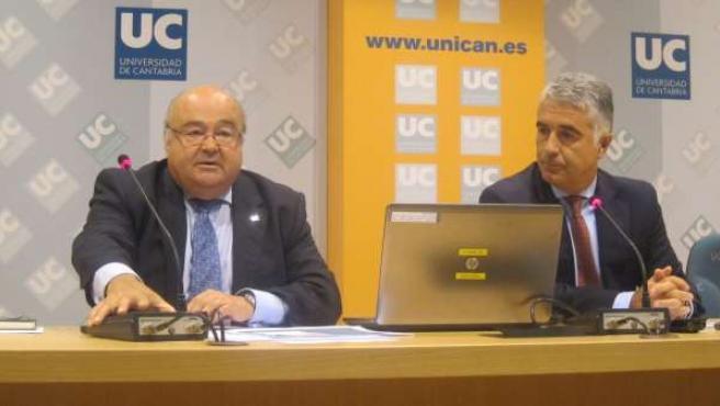 El rector con el vicerrector de Ordenación Académica