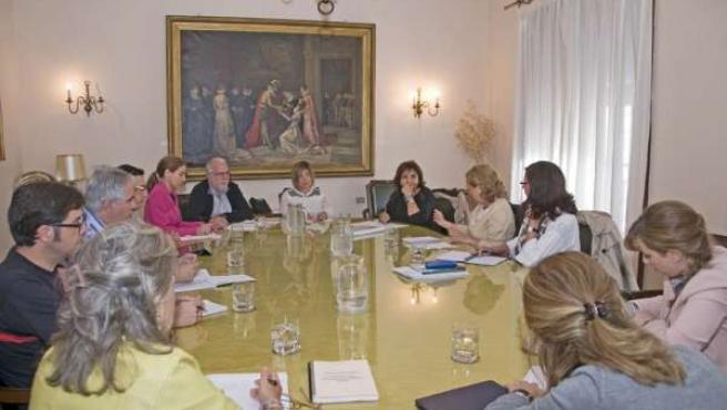 Reunión Comisión Transversal de Género de la Diputación de Cáceres