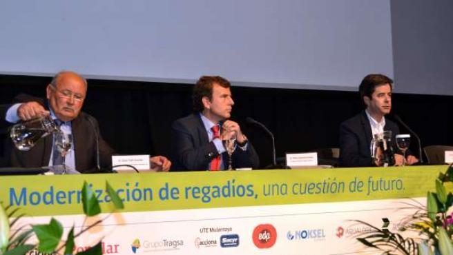 Saavedra inaugura las jornadas de la Comunidad Riegos Alto Aragón