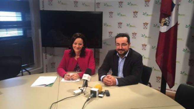 Crespín y Rojano en el encuentro con los medios
