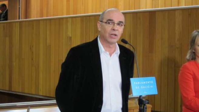 Francisco Jorquera en el Parlamento de Galicia