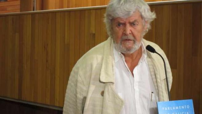 Xosé Manuel Beiras en el Parlamento de Galicia