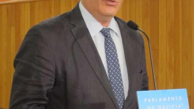 Pedro Puy en el Parlamento de Galicia