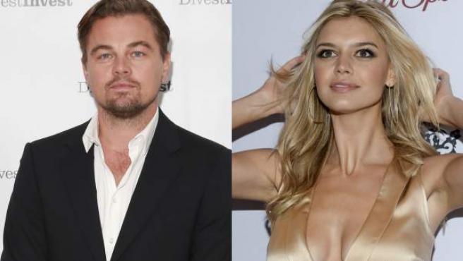 El actor Leonardo DiCaprio y la modelo Kelly Rohrbach.