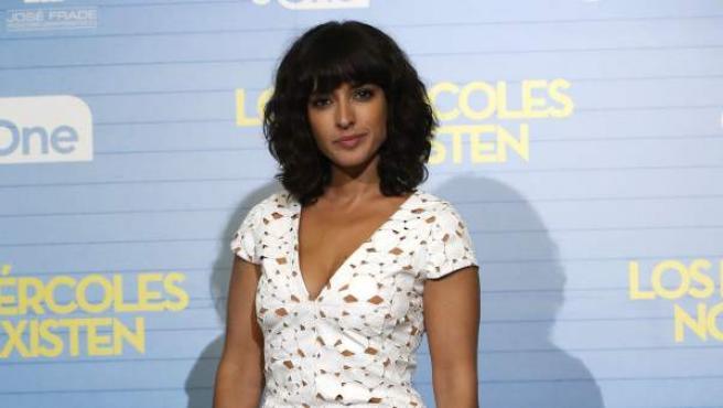 La actriz Inma Cuesta, durante la presentación de 'Los miércoles no existen'.