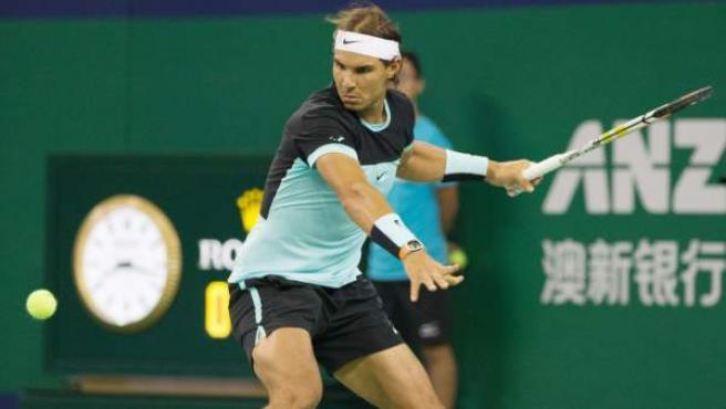 Rafa Nadal en su debut en el Masters 1.000 de Shanghái.