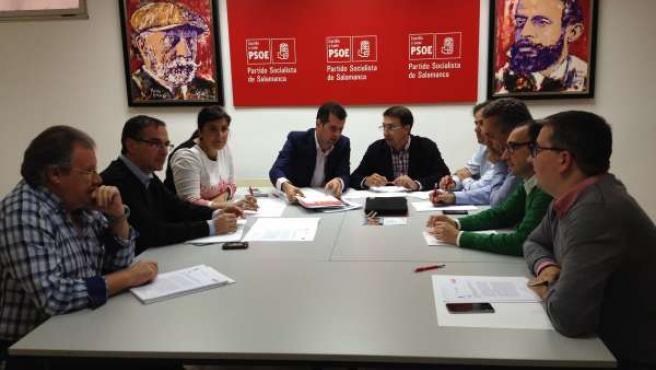 Luis Tudanca en la reunión del Comité Territorial del PSCyL en Salamanca