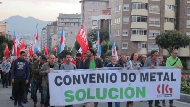 Manifestación del sector del metal en Vigo