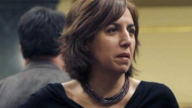La diputada Irene Lozano, de UPyD, al inicio de la sesión constitutiva del Congreso de la X Legislatura.