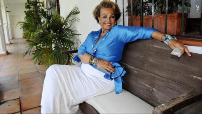 La artista Carmen Sevilla, en una imagen de archivo.