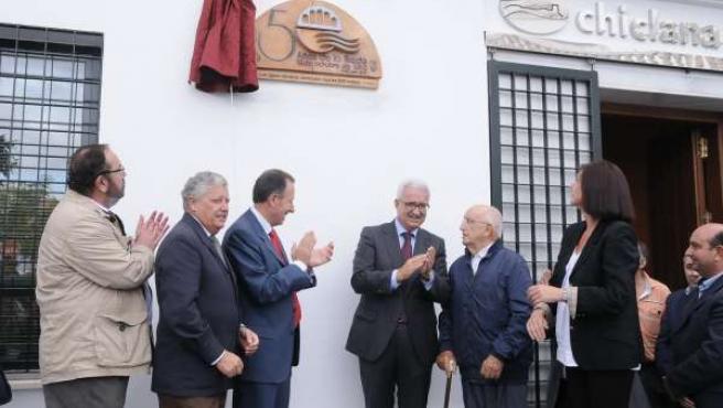 Jiménez Barrios en la conmemoración de los 50 años de la riada de Chiclana