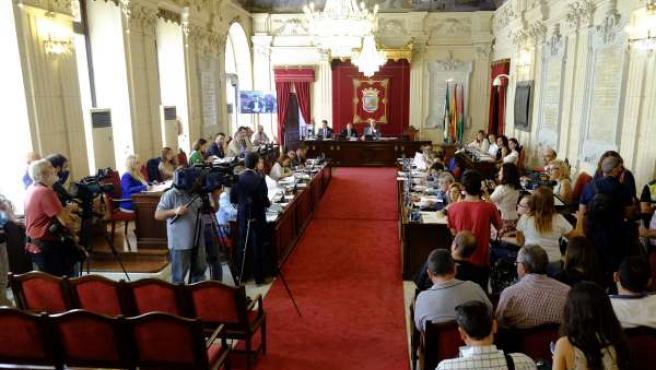 Pleno del Ayuntamiento de Málaga septiembre 2015