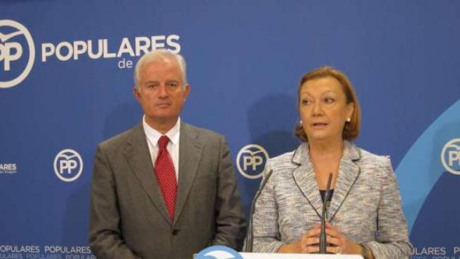 Eloy Suárez y Luisa Fernanda Rudi, del PP Aragón