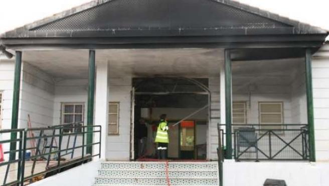 Colegio de Cartaya registra un incendio.