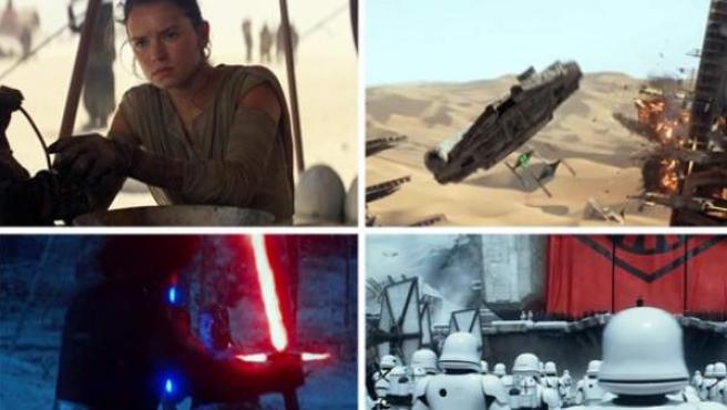 Imágenes del tráiler de 'The Force Awakens' (El despertar de la fuerza), la nueva entrega de 'Star Wars'.