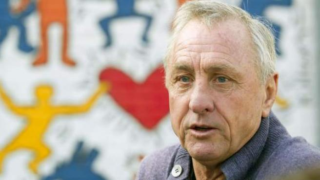 Johan Cruyff, exentrenador del FC Barcelona.