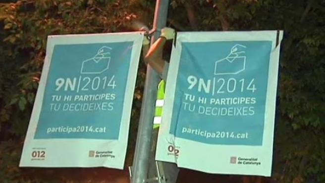 Comienzo de la campaña para el 9-N en Cataluña