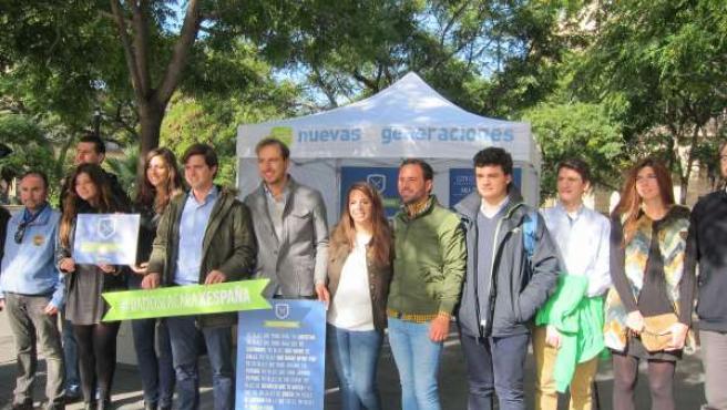 NNGG ha presentado este viernes su campaña #DamoslacaraxEspaña en Zaragoza