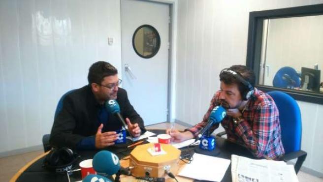 Miguel Sánchez durante su entrevista en la cadena COPE