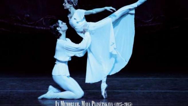 Cartel de la actuación del Ballet Nacional Ruso
