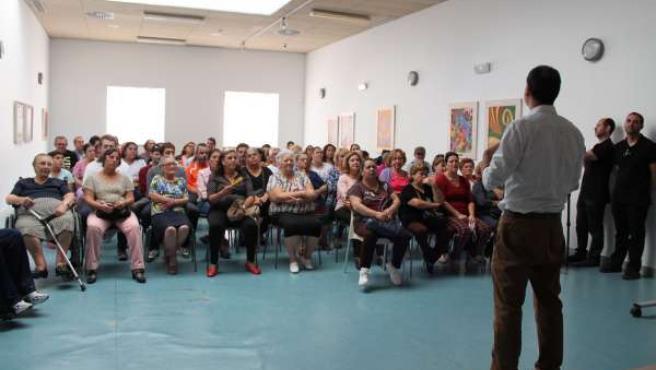 Reunión de los participantes en el documental 'Alma de Castillero'.