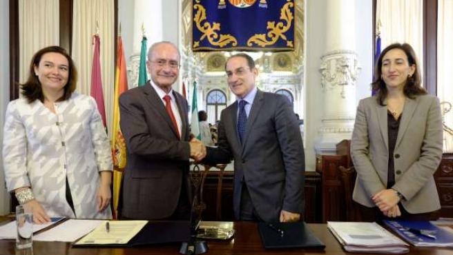 El alcalde de Málaga, Francisco de la Torre, y Javier González de Lara CEM