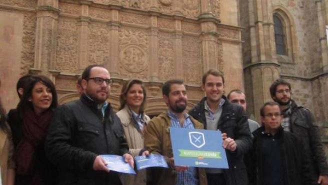 Integrantes de NN.GG. En la presentación de la campaña '#damoslacaraxEspaña'