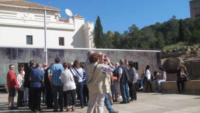 Turistas, Málaga, viajeros, turismo, extranjeros, centro, capital