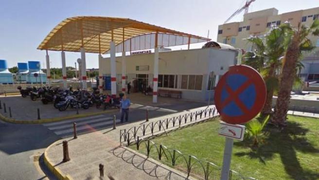 Entrada de Urgencias del Hospital Clínico de Málaga.