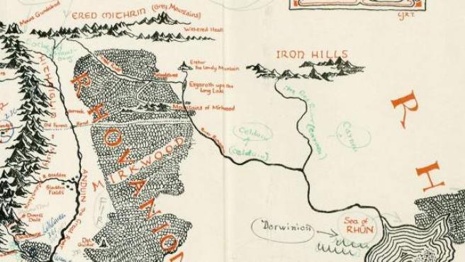 Hallan Un Mapa Inedito De La Tierra Media Con Anotaciones