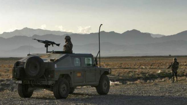 <p>Imagen de archivo de soldados españoles en Afganistán.</p>