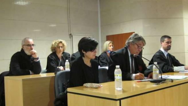 Rosario Porto y Alfonso Basterra, padres de Asunta, durante el juicio