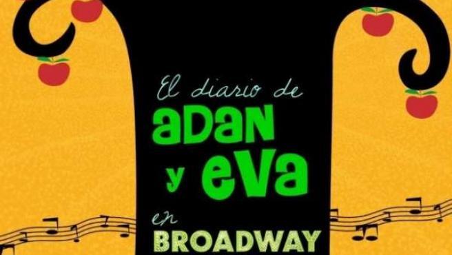 Cartel de 'El diario de Adán y Eva en Broadway'