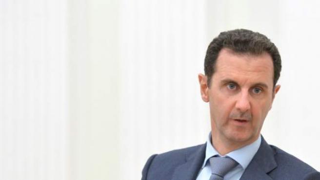 Bashar Al Asad durante su reunión el pasado martes con el presidente ruso, Vladimir Putin, en Moscú.