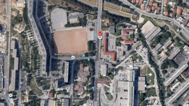 Cité des Lauriers , Marsella, barrio del norte de la ciudad en donde se produjo el suceso