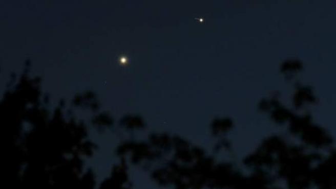 Venus y Júpiter en el cielo el pasado mes de julio en Estados Unidos.