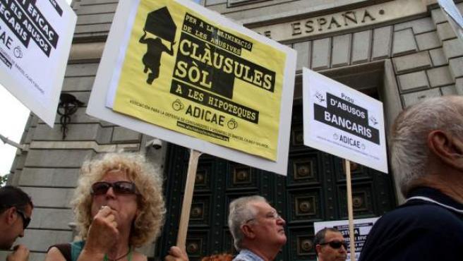 Protestas contra los abusos de la banca, como las cláusulas suelo.