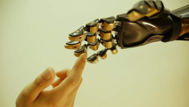 Una mano robótica fabricada por científicos de la Universidad de Stanford (California) y cubierta por una especie de piel artificial, que podría ayudar a millones de personas en el mundo que tienen que usar prótesis a recuperar las sensaciones en las extremidades.