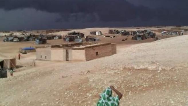 La tormenta se cierne sobre La Hamada Argelina, donde residen 250.000 saharauis.