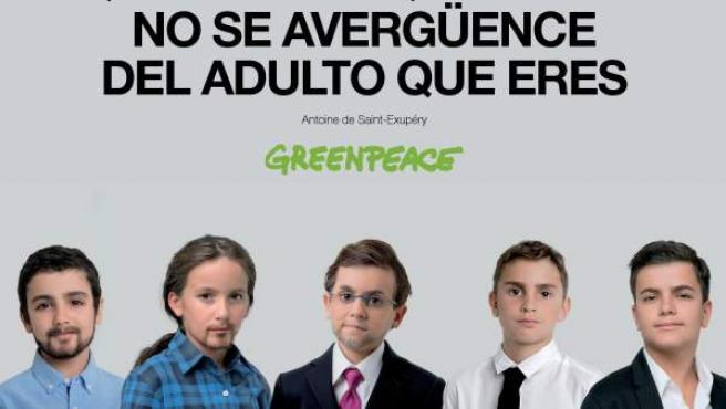 Imagen oficial de la nueva campaña de Greenpeace para pedir a los candidatos presidenciales que no se olviden de proteger el medio ambiente.