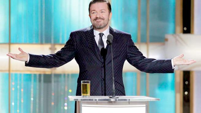 Ricky Gervais presentará los Globos de Oro