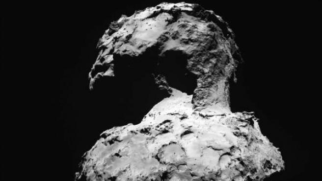 Fotografía de fecha desconocida facilitada por la Agencia Espacial Europea (ESA), que muestra la superficie del cometa 67/Churymov-Gerasimenko.
