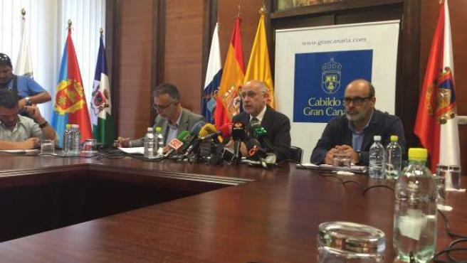 Rueda de prensa del Cabildo de Gran Canaria