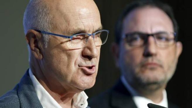 El líder de Unió, Josep Antoni Duran Lleida, durante el acto de presentación en Barcelona de la lista con la que UDC concurrió a las elecciones catalanas del 27 de septiembre.