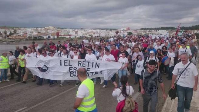 Marcha contra maniobras de la OTAN