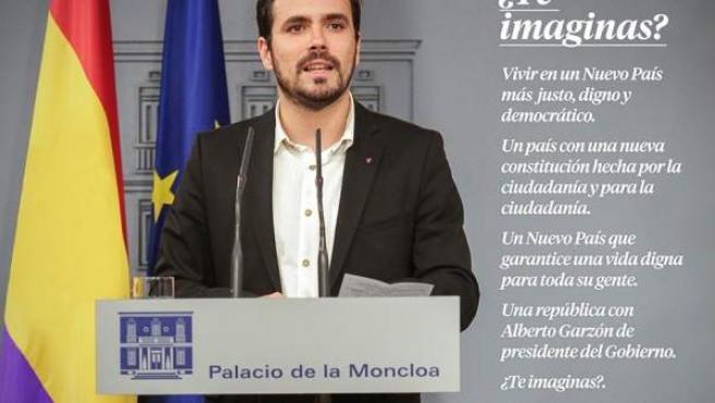 El 'meme' de Alberto Garzón como presidente del Gobierno en Moncloa.