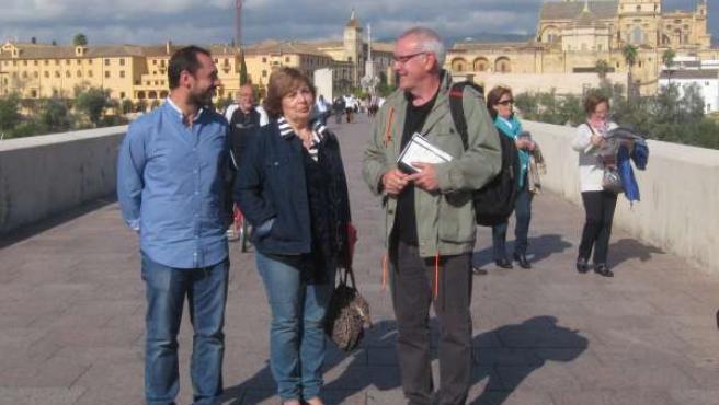 Cayo Lara con Antonia Parrado y Sebastián Pérez