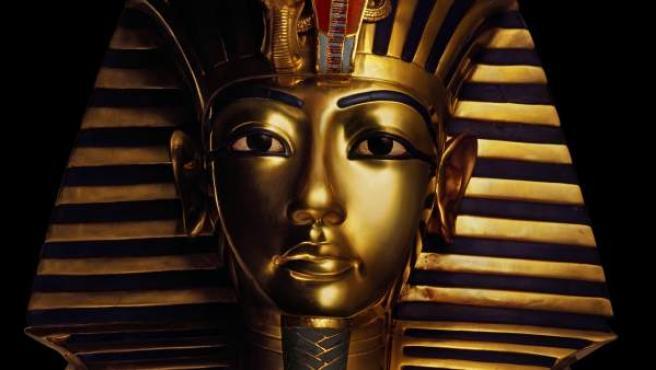 Imagen de archivo de la máscara de Tutankamón.