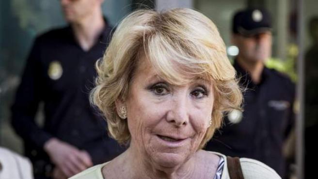 La presidenta del PP de Madrid y candidata a la Alcaldía de la ciudad, Esperanza Aguirre.
