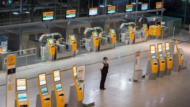 Una imagen del aeropuerto de Munich, durante una huelga de Lufthansa.